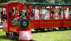 Kindereisenbahn im Wildpark Schwarzach