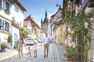 Romantische Gässchen lassen sich bei einem Stadtbummel in Bad Wimpfen erkunden!