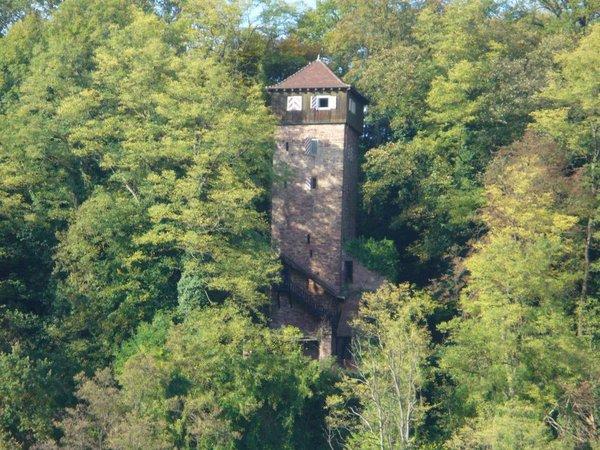 Der Bergfried und einige Mauerreste sind noch gut erhalten