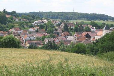 Blick auf den Billigheimer Ortsteil Sulzbach