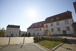 Blick auf Schloss Merchingen