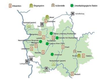 Übersichtskarte Geo-Naturpark