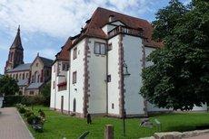 Das Hardheimer Schloss - im Hintergrund der Erftaldom