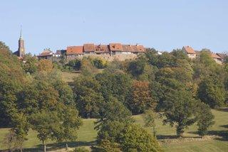 Die Burgfeste Dilsberg - hier haben Sie einen wunderschönen Blick ins Neckartal