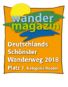 Logo Wandermagazin - Deutschlands schönster Wanderweg 2018