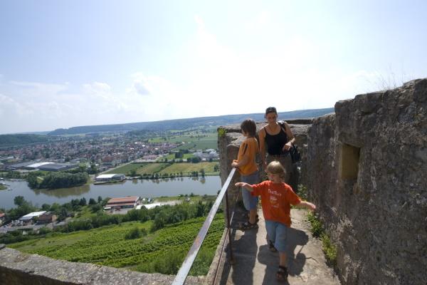 Wunderschöner Blick von Burg Hornberg ins Neckartal