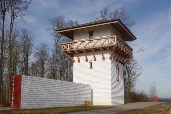 """Etwa 1 km südlich des Kastells liegt auf der Höhe der Wachtposten WP 08/32 """"Förstlein""""."""