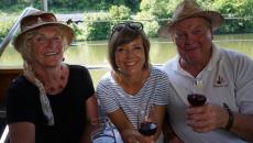Weinprobe auf dem Neckar